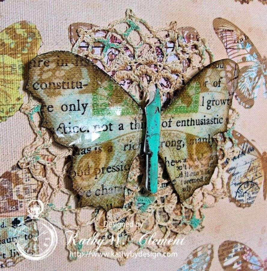 Crafty Secrets Butterfly Canvas 06