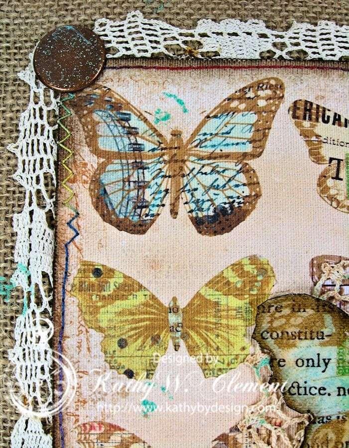 Crafty Secrets Butterfly Canvas 07