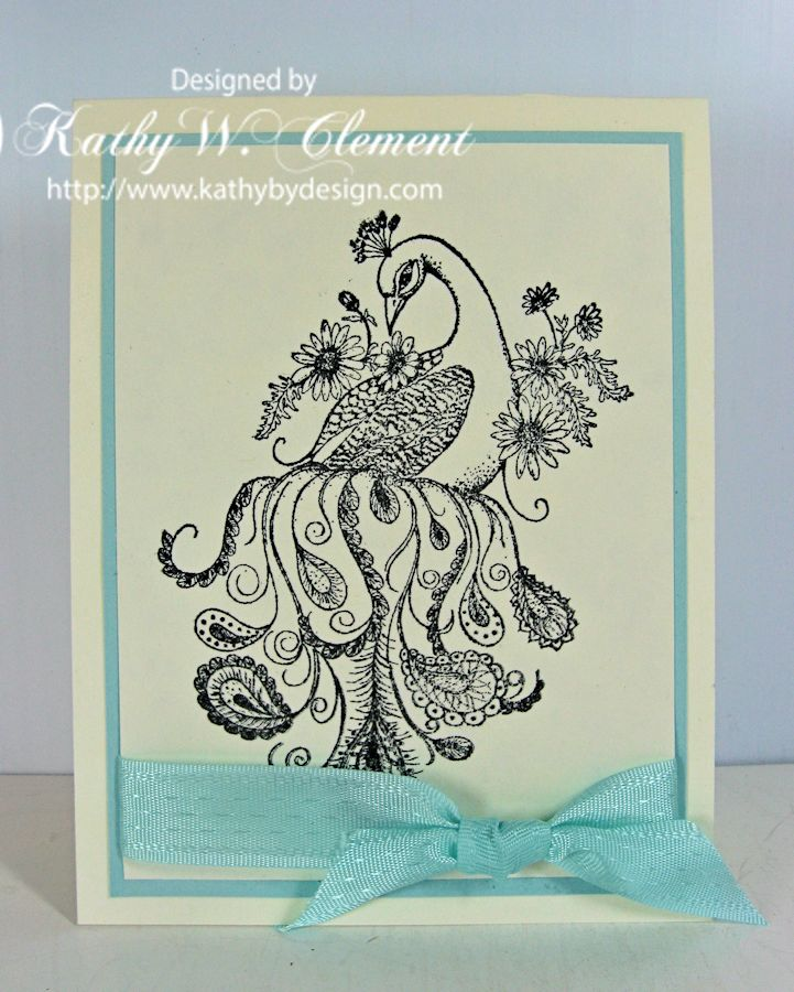 Peacock Paisley Note Cards/Kathy by Design for Heartfelt Creations