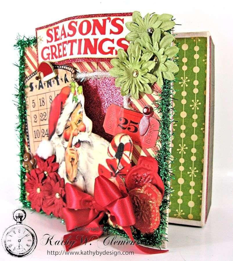 Kathy by Design/Retro Christmas Altered Art box