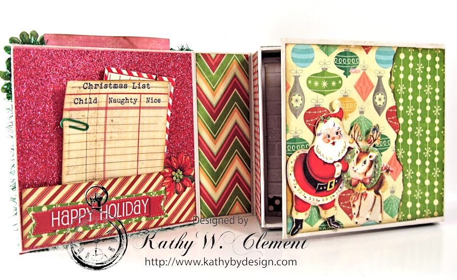 Pollys Paper Christmas Creativity Kit altered art box 03