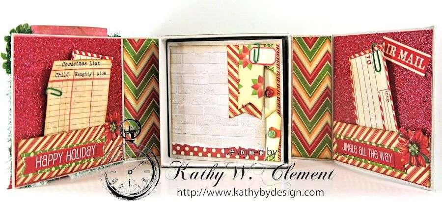 Pollys Paper Christmas Creativity Kit altered art box 04
