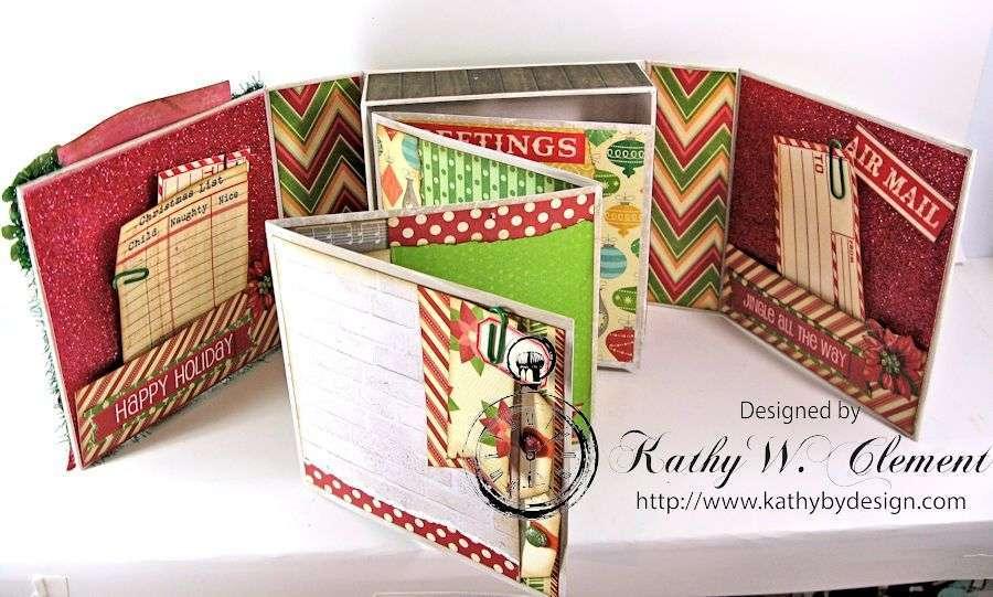 Pollys Paper Christmas Creativity Kit altered art box 05