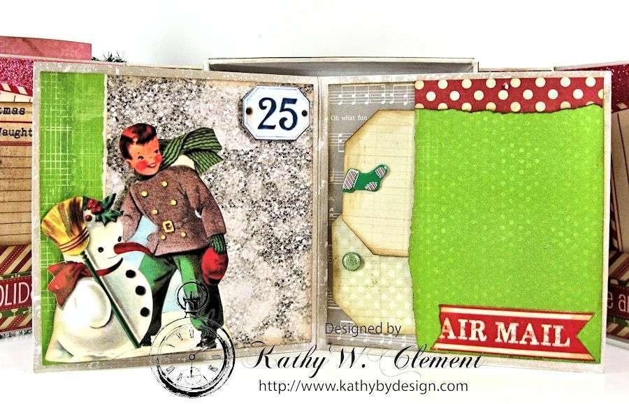 Pollys Paper Christmas Creativity Kit altered art box 07