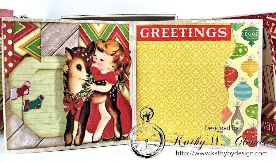 Pollys Paper Christmas Creativity Kit altered art box 08