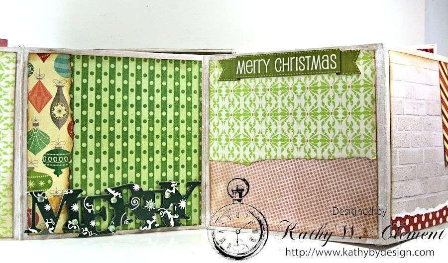 Pollys Paper Christmas Creativity Kit altered art box 10