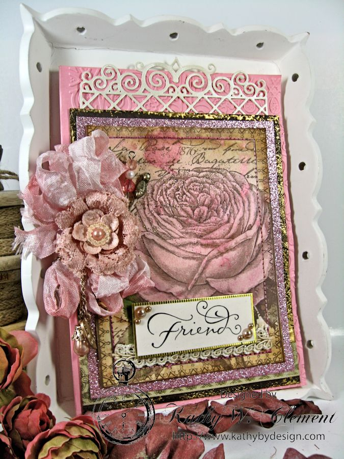 Kathy by Design for Crafty Secrets: Sepia Roses