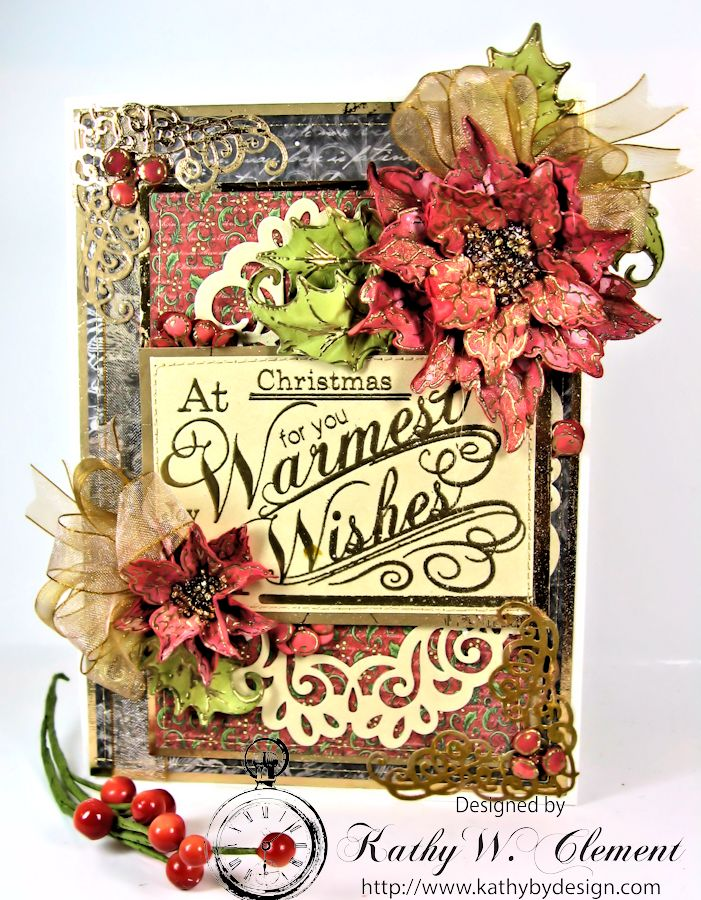 Kathy by Design Warm Wishes Christmas Card for Heartfelt Creations 01