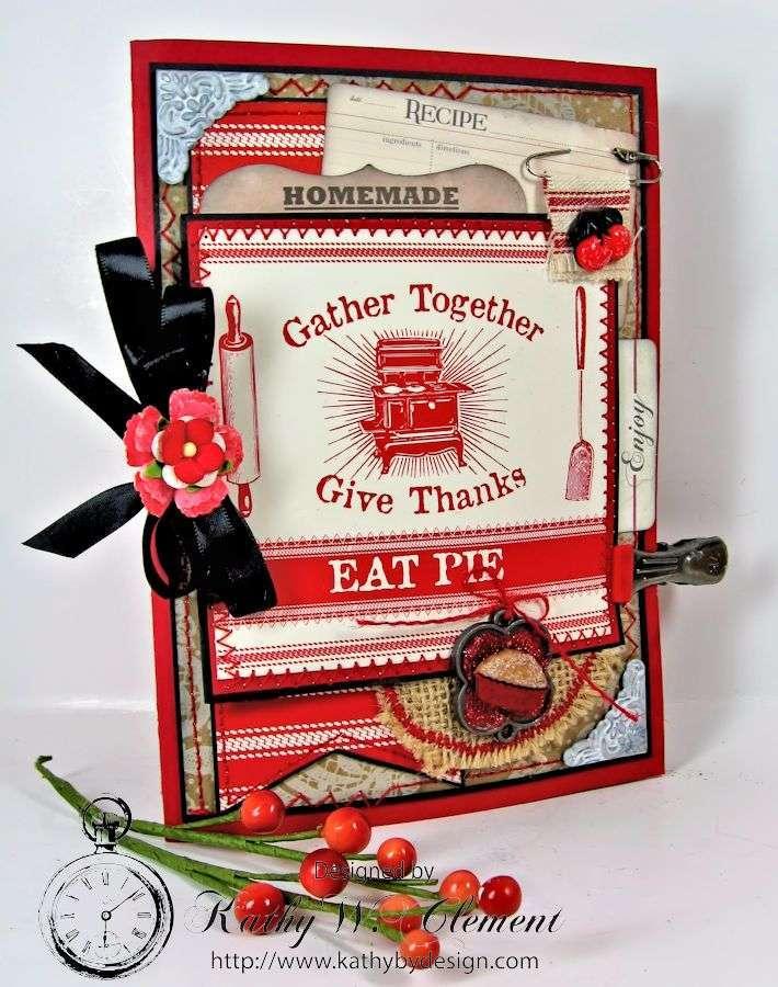 Kathy by Design/Thanksgiving Pie Tri-fold Mini