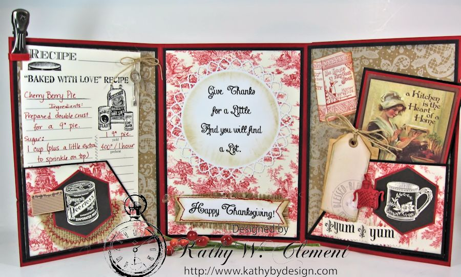 Tri Fold Christmas Card CCB 04