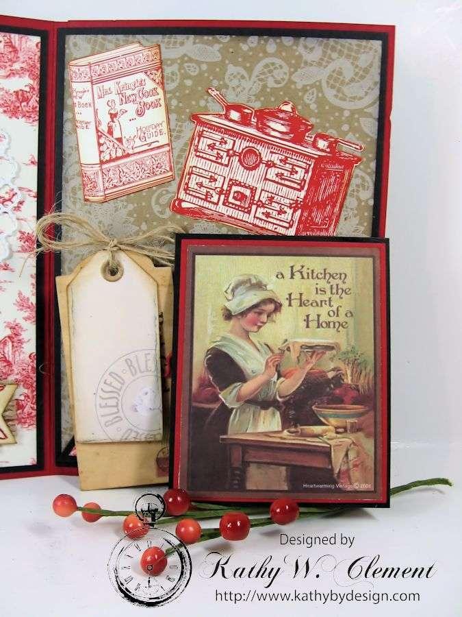 Tri Fold Christmas Card CCB 05