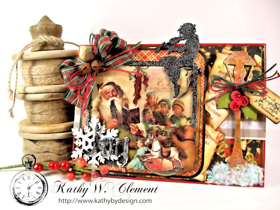 Christmas Emporium Easel card for Gypsy Soul Laser Cuts 01
