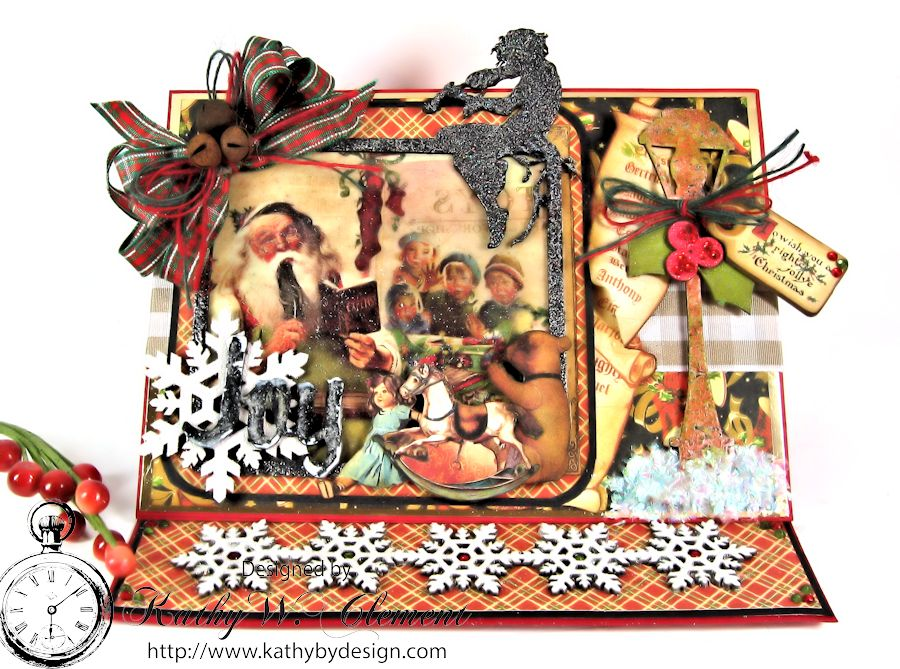 Christmas Emporium Easel card for Gypsy Soul Laser Cuts 05