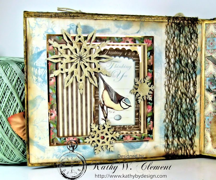 Kathy by Design Winter Bird Altered Book for Gypsy Laser Cuts 06