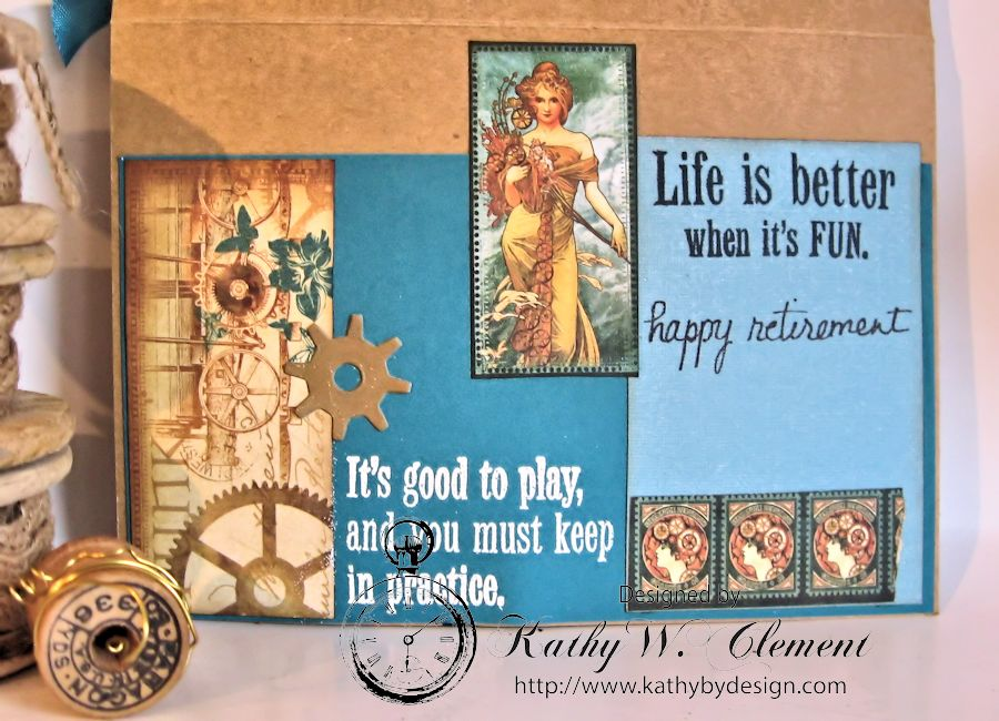 Retirement Card Steampunk Debutante 03