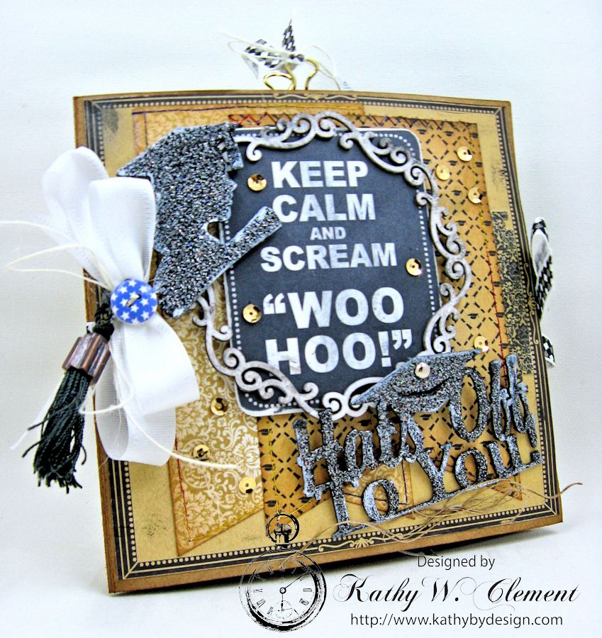 Authentique Accomplished Graduation Mini Album Tutorial by Kathy Clement for Gypsy Soul Laser Cuts 01