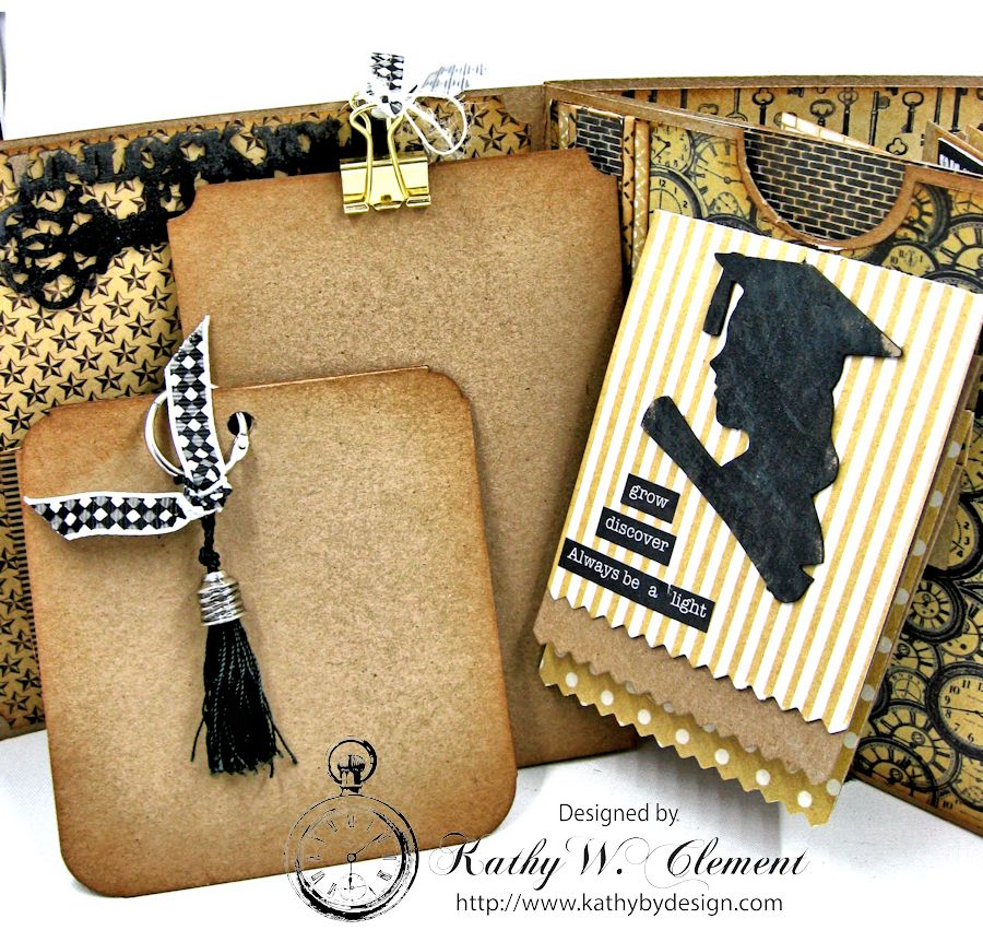 Authentique Accomplished Graduation Mini Album Tutorial by Kathy Clement for Gypsy Soul Laser Cuts 05
