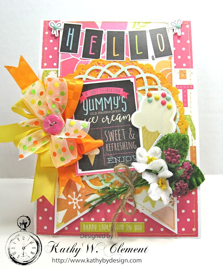 Ice Cream Birthday Card By Kathy Clement Simple Stories Sunshine And