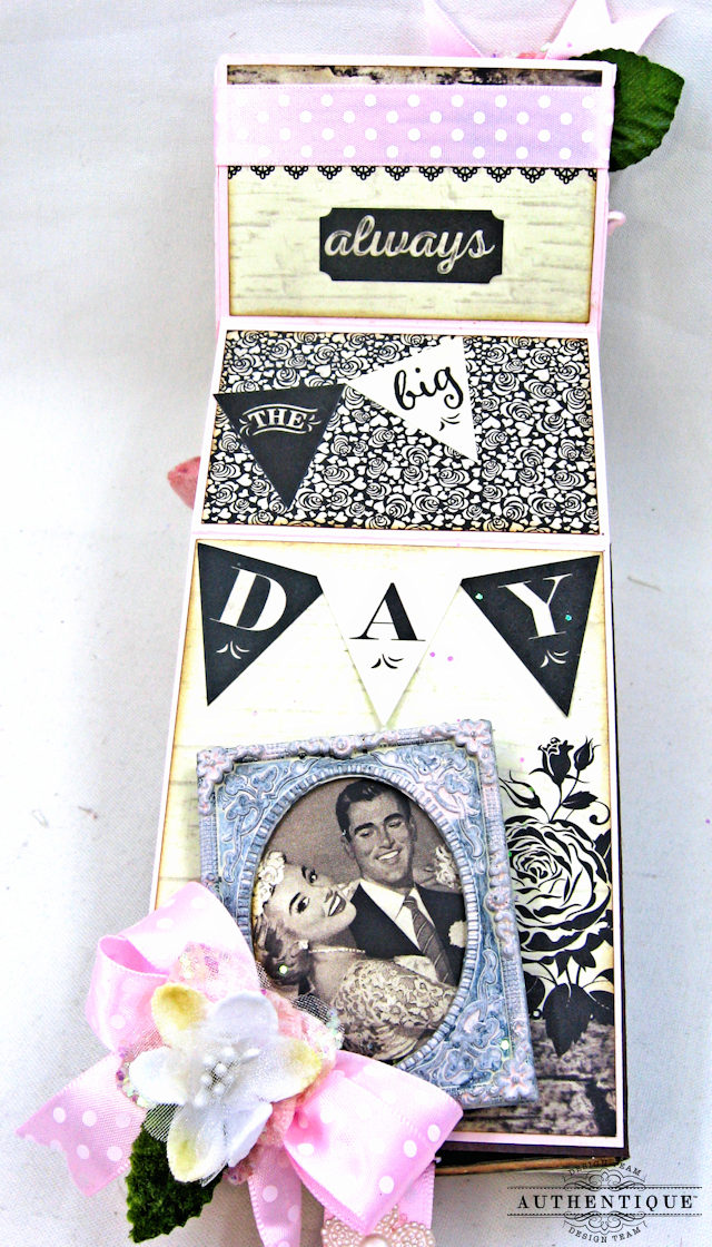 Mister and Missus Easel Style Gift Box Always by Kathy Clement Product by Authentique Photo 5
