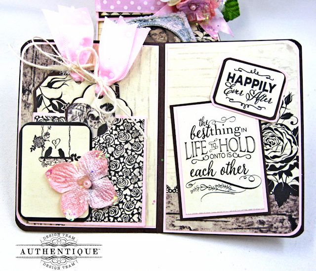 Mister and Missus Easel Style Gift Box Always by Kathy Clement Product by Authentique Photo 8