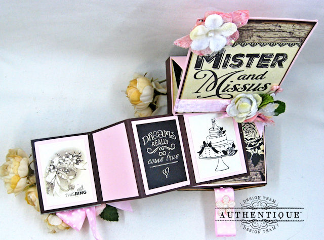 Mister and Missus Easel Style Gift Box Always by Kathy Clement Product by Authentique Photo 4