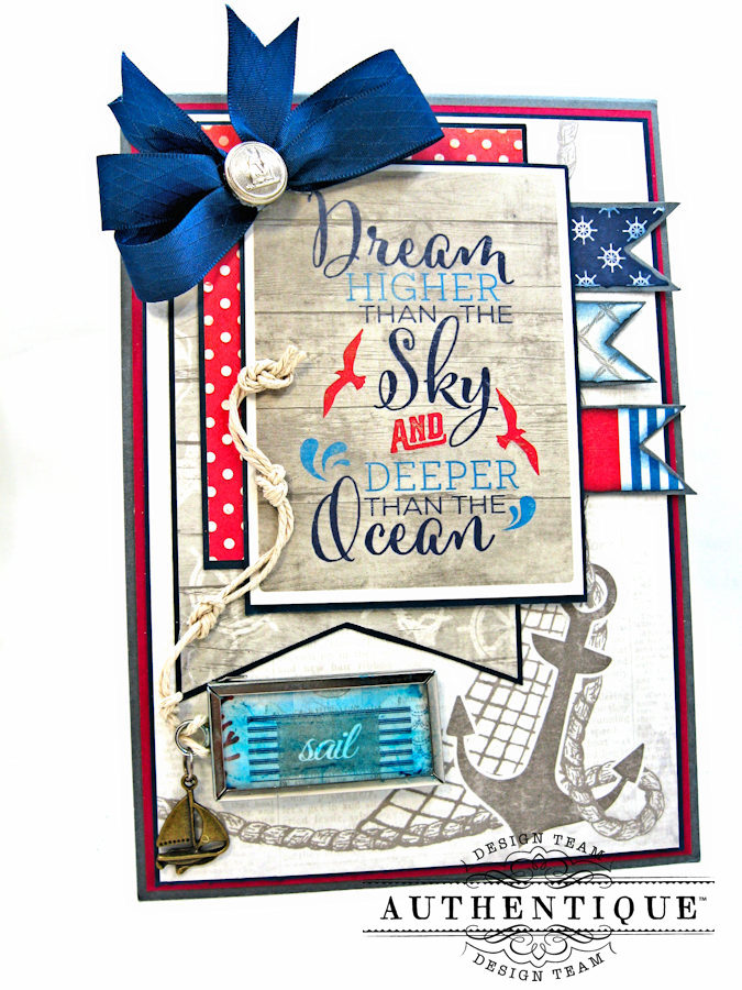 Nautical Themed Graduation Cards Seafarer by Kathy Clement Product by Authentique Photo 1