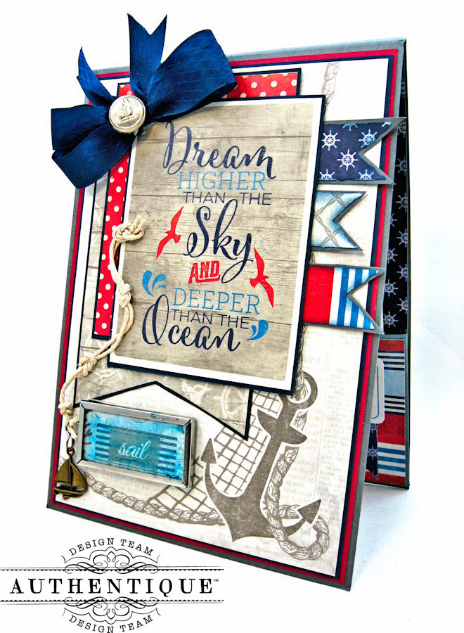Nautical Themed Graduation Cards Seafarer by Kathy Clement Product by Authentique Photo 2