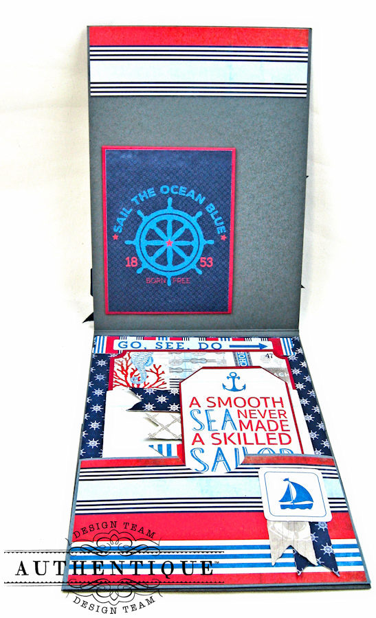 Nautical Themed Graduation Cards Seafarer by Kathy Clement Product by Authentique Photo 3
