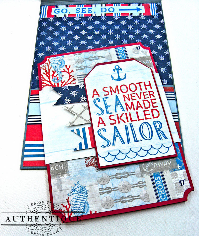 Nautical Themed Graduation Cards Seafarer by Kathy Clement Product by Authentique Photo 4