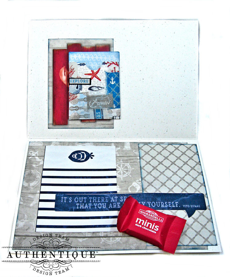 Nautical Themed Graduation Cards Seafarer by Kathy Clement Product by Authentique Photo 13