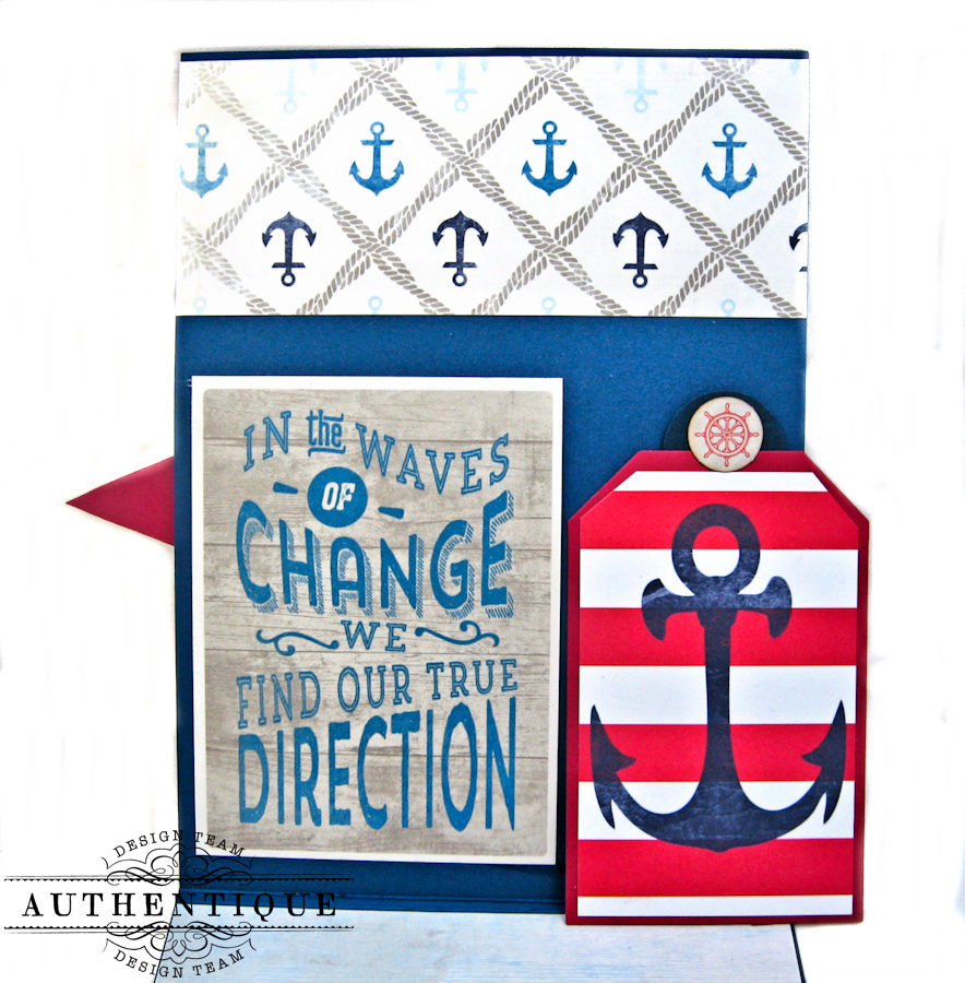 Nautical Themed Graduation Cards Seafarer by Kathy Clement Product by Authentique Photo 9