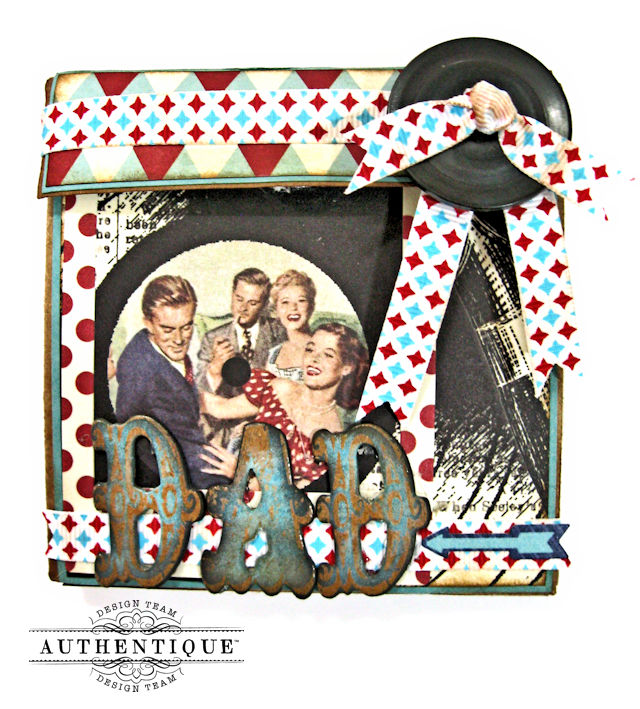 Dear Old Dad Father's Day Gift Wallet with Authentique Dapper Collection by Kathy Clement Photo 1