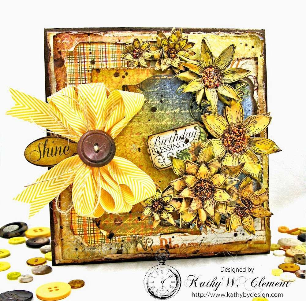 Heartfelt Creations Classic Sunflower Birthday Wishes Greeting Card