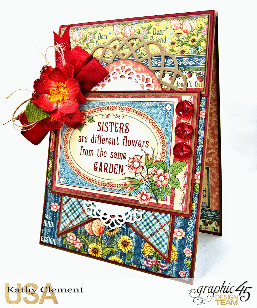 Flowers From The Same Garden Card Pennys Paper Doll Family By Kathy