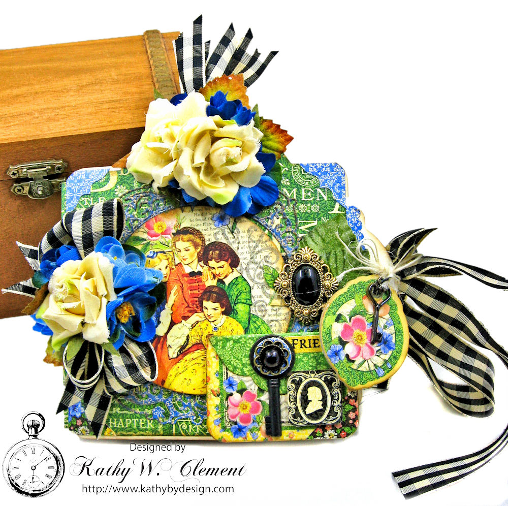 Graphic 45 Little Women Square Tag And Clock Die Mini