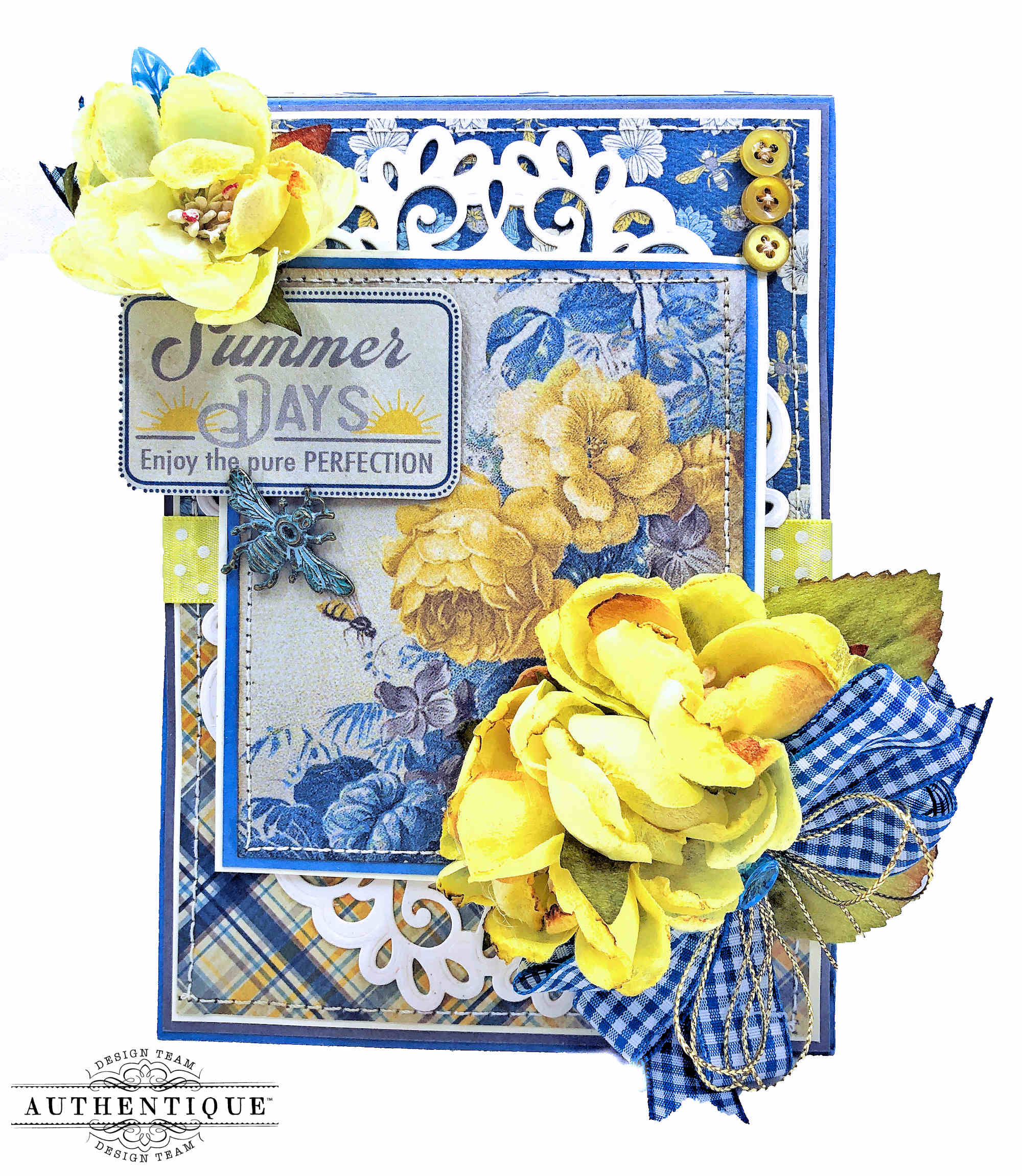 Authentique June Calendar Card by Kathy Clement Kathy by Design Photo 01